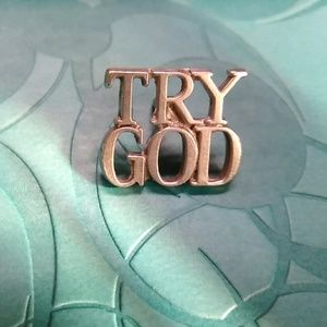 TIFFANY & CO. TRY GOD STERLING PIN